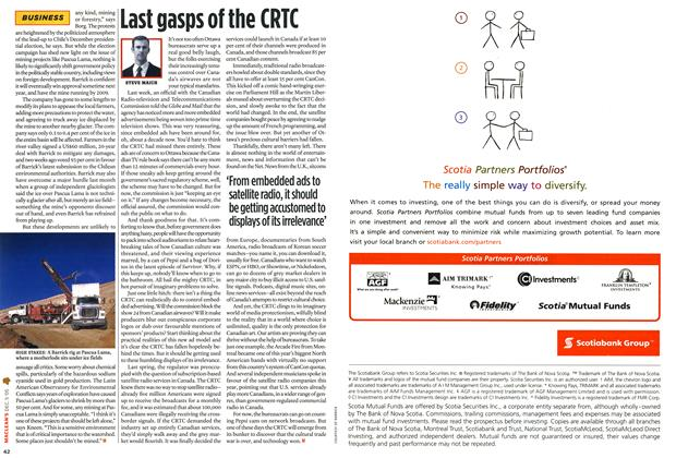 Article Preview: Last gasps of the CRTC, December 6-12 2005 | Maclean's