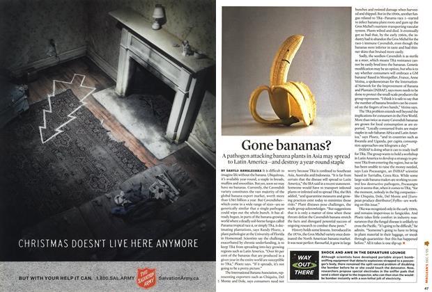 Article Preview: Gone bananas?, December 6-12 2005 | Maclean's