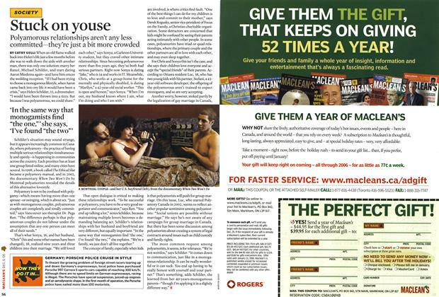 Article Preview: Stuck on youse, December 2005 | Maclean's