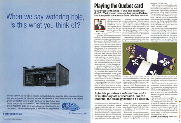Article Preview: Playing the Quebec card, December 6-12 2005 | Maclean's