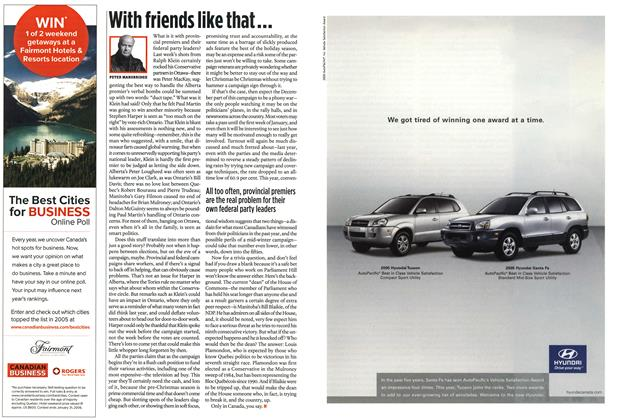 Article Preview: With friends like that..., December 6-12 2005 | Maclean's