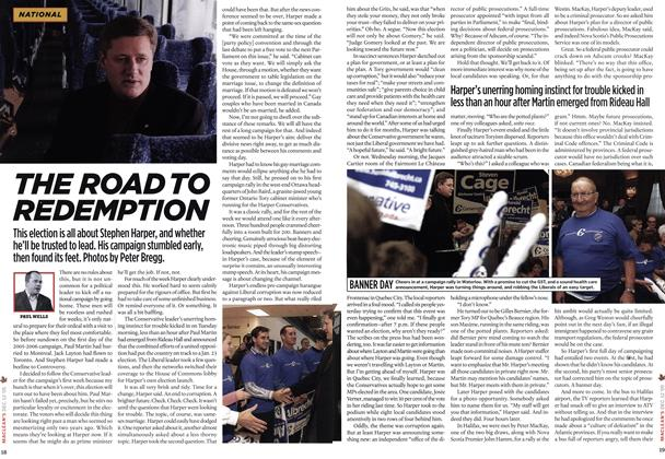 Article Preview: THE ROAD TO REDEMPTION, DCE. 12 2005 2005 | Maclean's