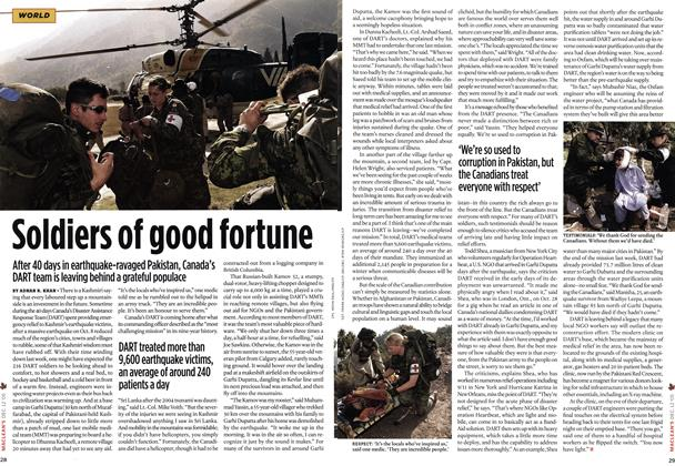 Article Preview: Soldiers of good fortune, DCE. 12 2005 2005 | Maclean's