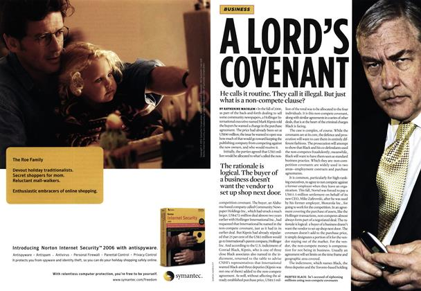 Article Preview: A LORD'S COVENANT, DEC.  12-19 2005 | Maclean's