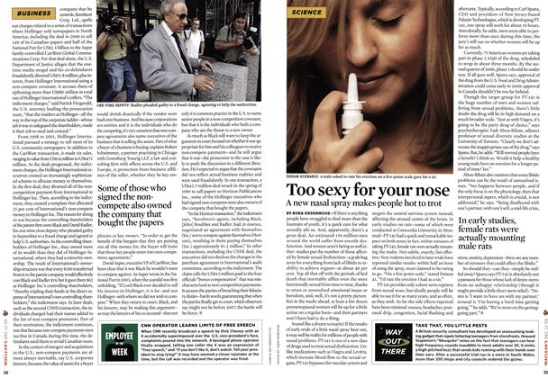 Article Preview: Too sexy for your nose, DEC.  12-19 2005 | Maclean's