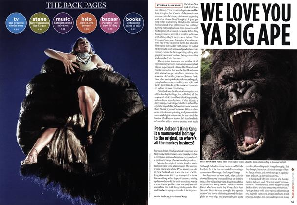 Article Preview: WE LOVE YOU YA BIG APE, DEC.  12-19 2005 | Maclean's
