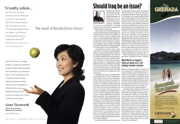 Article Preview: Should Iraq be an issue?, DEC.  12-19 2005 | Maclean's