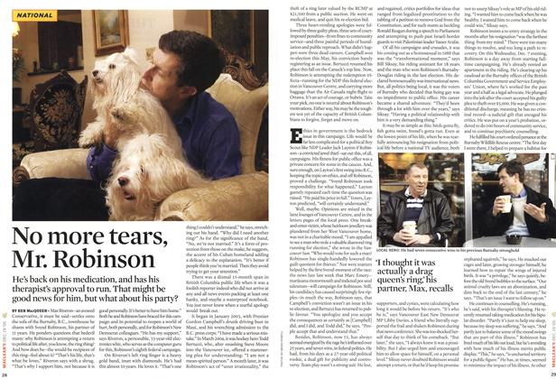 Article Preview: No more tears, Mr. Robinson, 19-26 DEC. 2005 2005 | Maclean's
