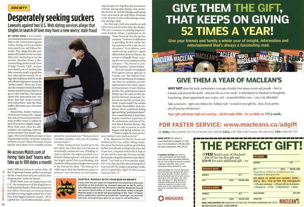 Article Preview: Desperately seeking suckers, DEC. 19-26 2005 | Maclean's