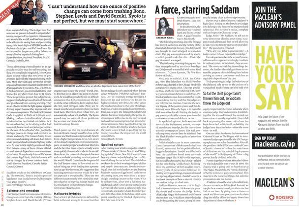 Article Preview: A farce, starring Saddam, DEC. 19-26 2005 | Maclean's