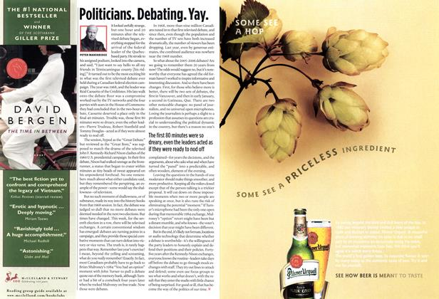 Article Preview: Politicians. Debating.Yay., DEC. 19-26 2005 | Maclean's