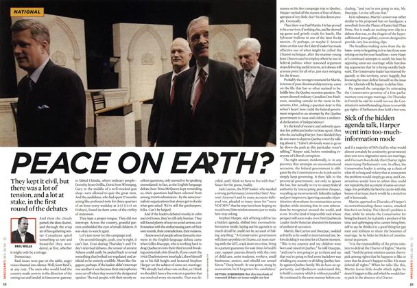 Article Preview: PEACE ON EARTH?, December 2005 | Maclean's