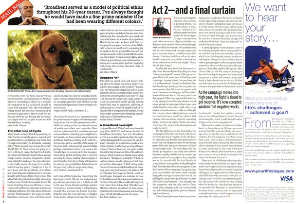 Article Preview: Act 2—and a final curtain, December 27-31 2005 | Maclean's