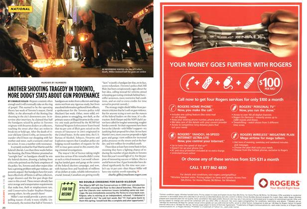 Article Preview: ANOTHER SHOOTING TRAGEDY IN TORONTO, MORE DODGY STATS ABOUT GUN PROVENANCE, JAN. 9th 2006 2006 | Maclean's