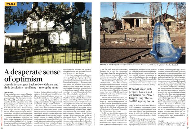 Article Preview: A desperate sense of optimism, JAN. 9th 2006 2006 | Maclean's
