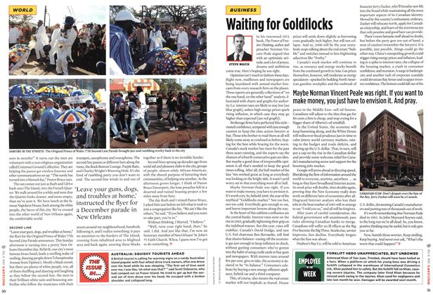 Article Preview: Waiting for Goldilocks, JAN. 9th 2006 2006 | Maclean's