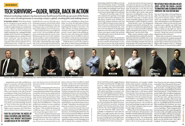Article Preview: TECH SURVIVORS—OLDER, WISER, BACK IN ACTION, JAN. 9th 2006 2006 | Maclean's