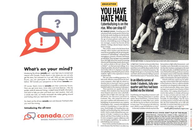 Article Preview: YOU HAVE HATE MAIL, JAN. 9th 2006 2006 | Maclean's