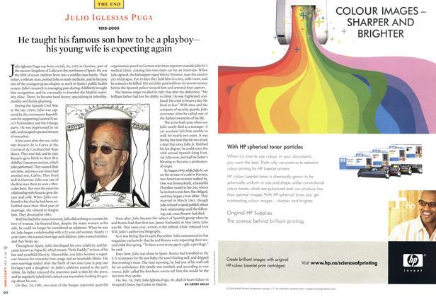 Article Preview: JULIO IGLESIAS PUGA 1915-2005, JAN. 9th 2006 2006   Maclean's