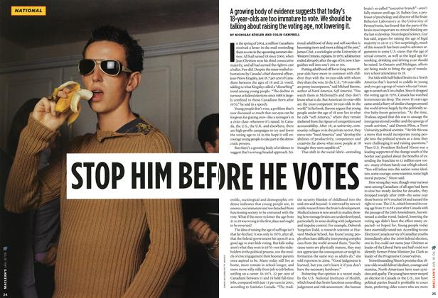 Article Preview: STOP HIM BEF ORE HE VOTES, JAN 16th 2006 2006 | Maclean's