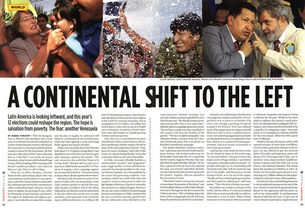 Article Preview: A CONTINENTAL S HIFT TO THE LEFT, JAN 16th 2006 2006 | Maclean's