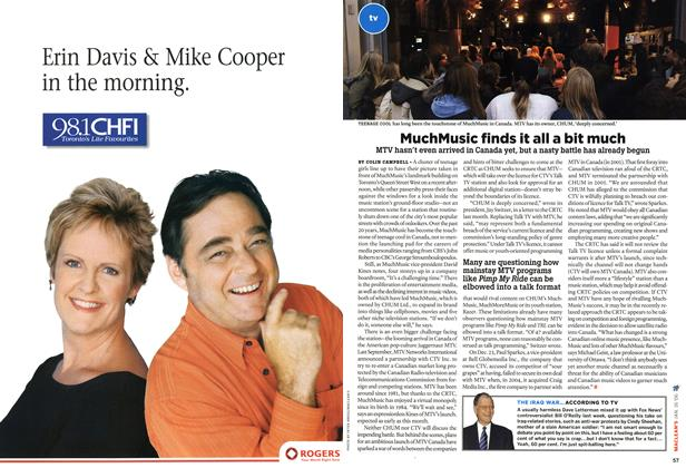 Article Preview: MuchMusic finds it all a bit much, JAN 16th 2006 2006 | Maclean's