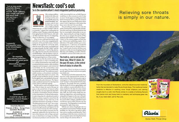 Article Preview: Newsflash: cool's out, JAN 16th 2006 2006 | Maclean's
