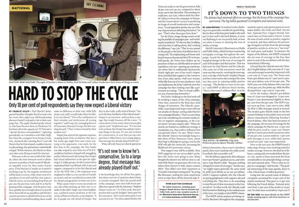 Article Preview: HARD TO STOP THE CYCLE, JAN 23 2006 | Maclean's