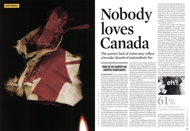 Article Preview: Nobody loves Canada, JAN 23 2006 | Maclean's