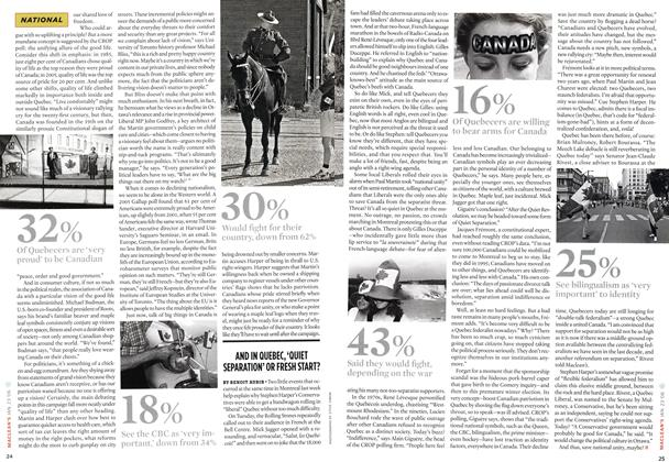 Article Preview: AND IN QUEBEC,'QUIET SEPARATION'OR FRESH START?, JAN 23 2006 | Maclean's
