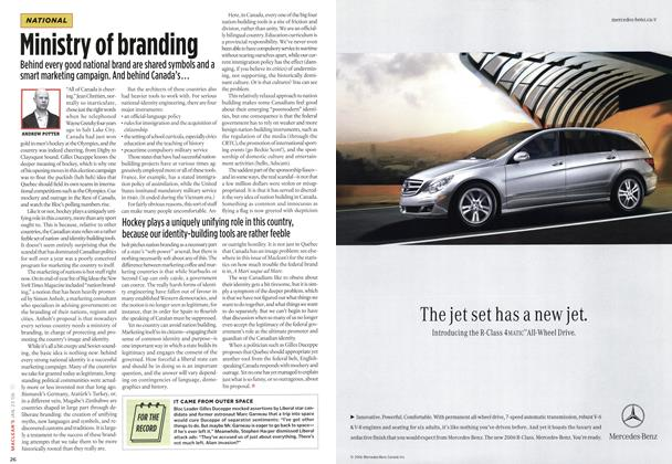 Article Preview: Ministry of branding, JAN. 23rd 2006 2006 | Maclean's