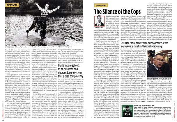 Article Preview: The Silence of the Cops, JAN 23 2006 | Maclean's