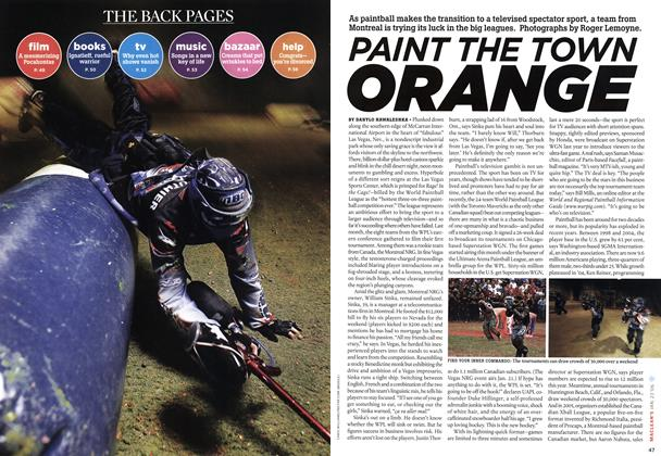 Article Preview: PAINT THE TOWN ORANGE, JAN 23 2006 | Maclean's