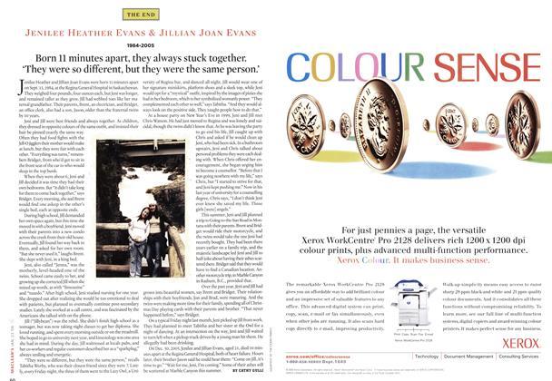 Article Preview: JENILEE HEATHER EVANS & JILLIAN JOAN EVANS 1984 - 2005, JAN 23 2006 | Maclean's