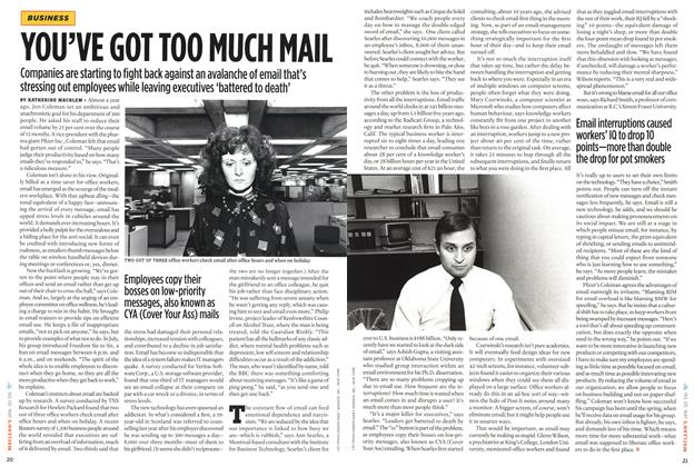 Article Preview: YOU'VE GOT TOO MUCH MAIL, January 2006 | Maclean's