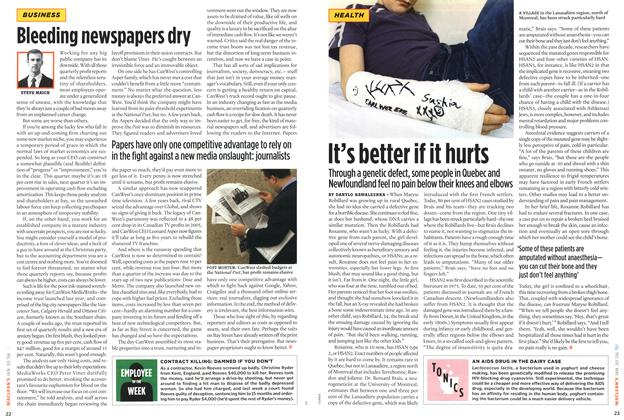 Article Preview: It's better if it hurts, January 2006   Maclean's