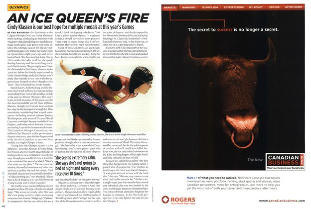 Article Preview: AN ICE QUEEN'S FIRE, January 2006 | Maclean's