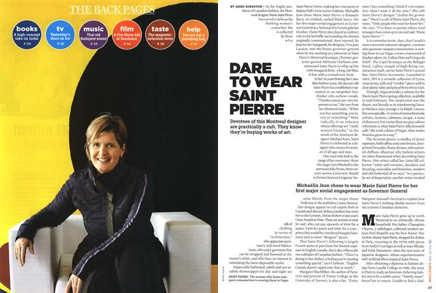 Article Preview: DARE TO WEAR SAINT, January 2006 | Maclean's