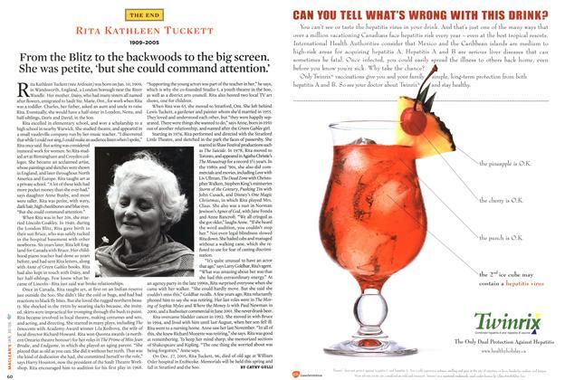 Article Preview: RITA KATHLEEN TUCKETT 1909-2005, January 2006 | Maclean's