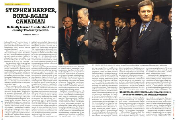 Article Preview: STEPHEN HARPER, BORN-AGAIN CANADIAN, February 2006 | Maclean's