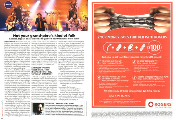 Article Preview: Not your grand-père's kind of folk, February 2006 | Maclean's