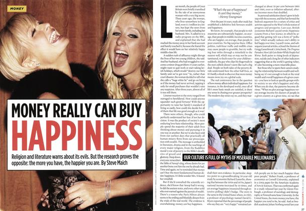 Article Preview: MONEY REALLY CAN BUY HAPPINESS, FEB. 13th 2006 2006 | Maclean's