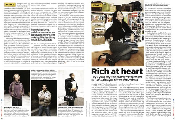 Article Preview: Rich at heart, FEB. 13th 2006 2006 | Maclean's