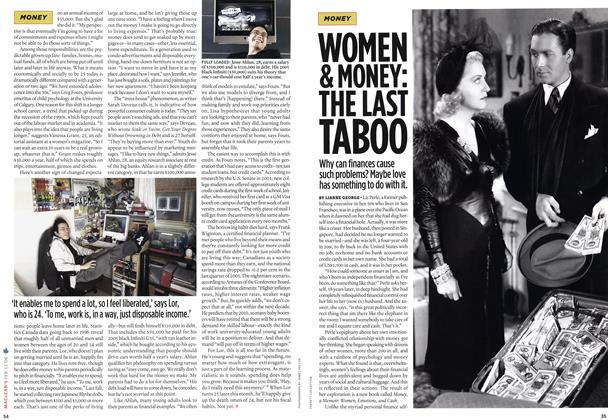 Article Preview: WOMEN & MONEY: THE LAST TABOO, FEB. 13th 2006 2006 | Maclean's