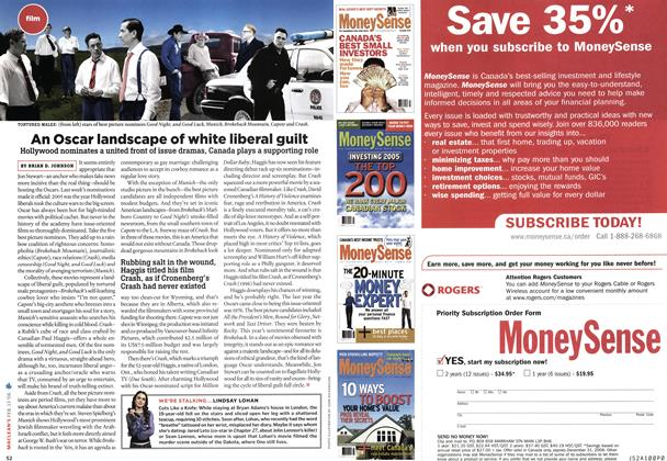 Article Preview: An Oscar landscape of white liberal guilt, FEB. 13th 2006 2006 | Maclean's