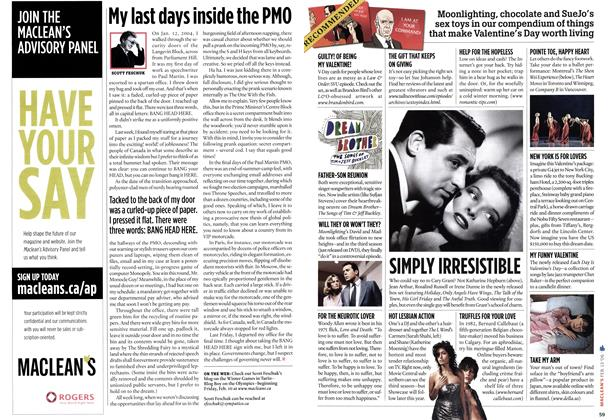 Article Preview: My last days inside the PMO, FEB. 13th 2006 2006 | Maclean's