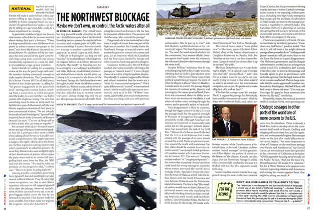Article Preview: THE NORTHWEST BLOCKAGE, FEB. 27th 2006 2006 | Maclean's