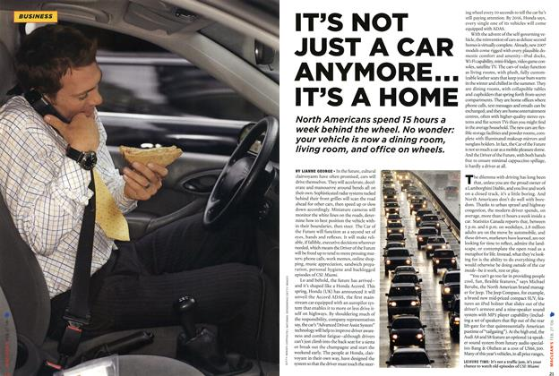 Article Preview: IT'S NOT JUST A CAR ANYMORE... IT'S A HOME, FEB. 27th 2006 2006 | Maclean's