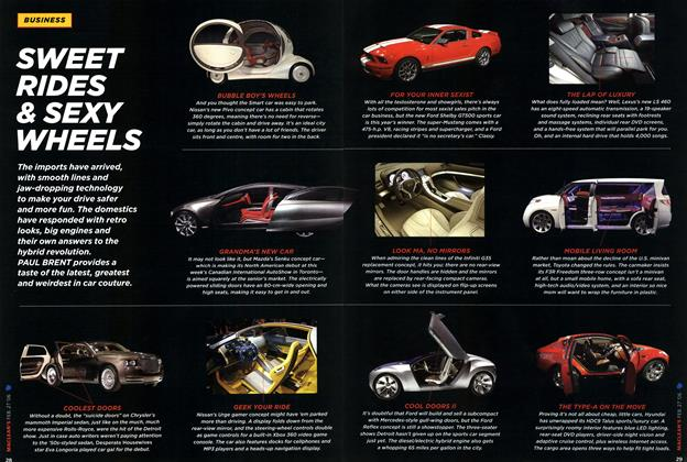 Article Preview: SWEET RIDES &SEXY WHEELS, FEB. 27th 2006 2006 | Maclean's