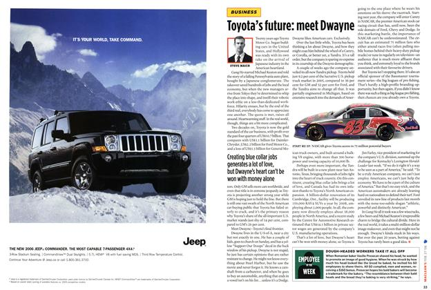 Article Preview: Toyota's future : meet Dwayne, FEB. 27th 2006 2006 | Maclean's